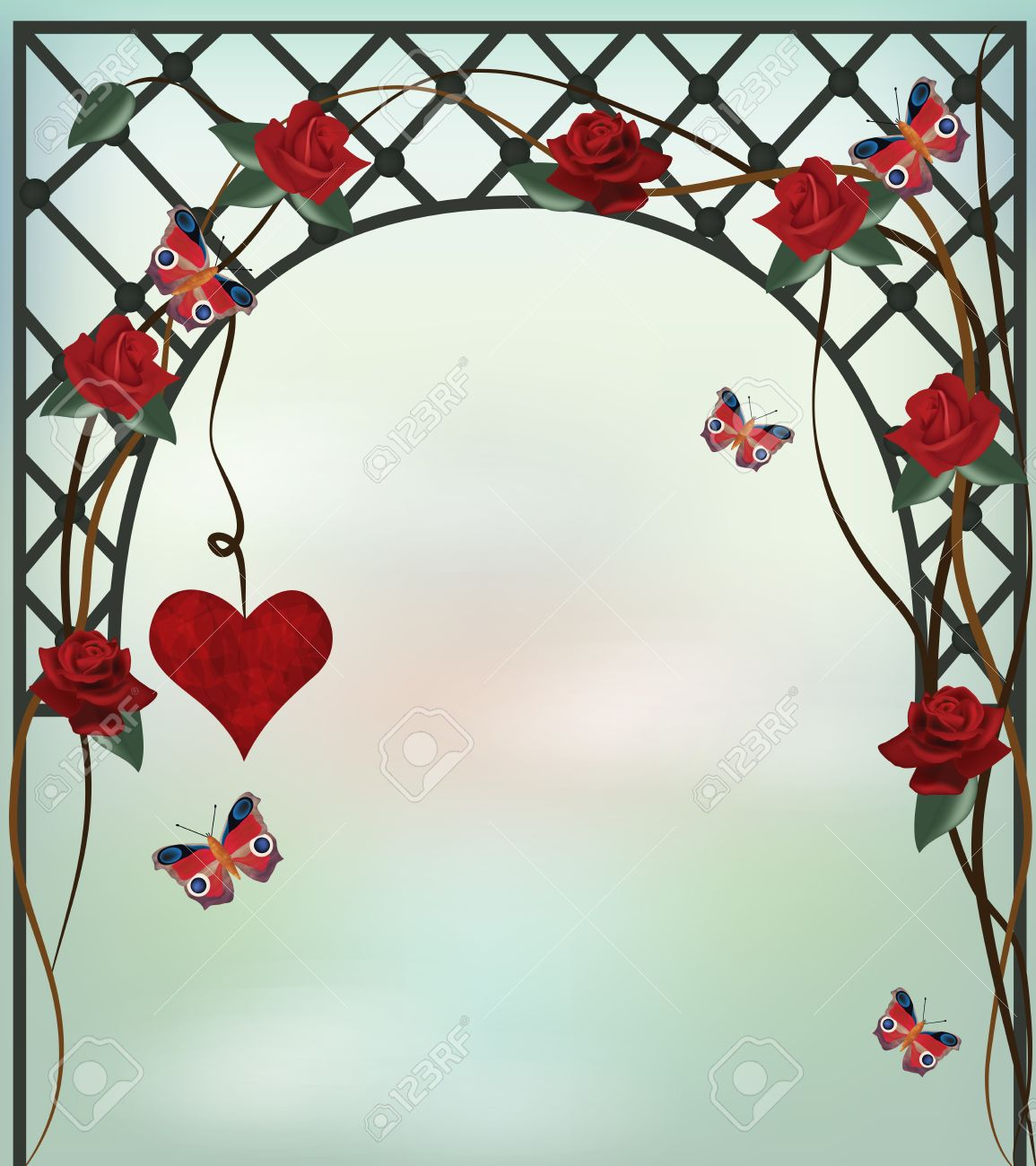 Romantic Background Royalty Cliparts Vectors And Stock 1155x1300