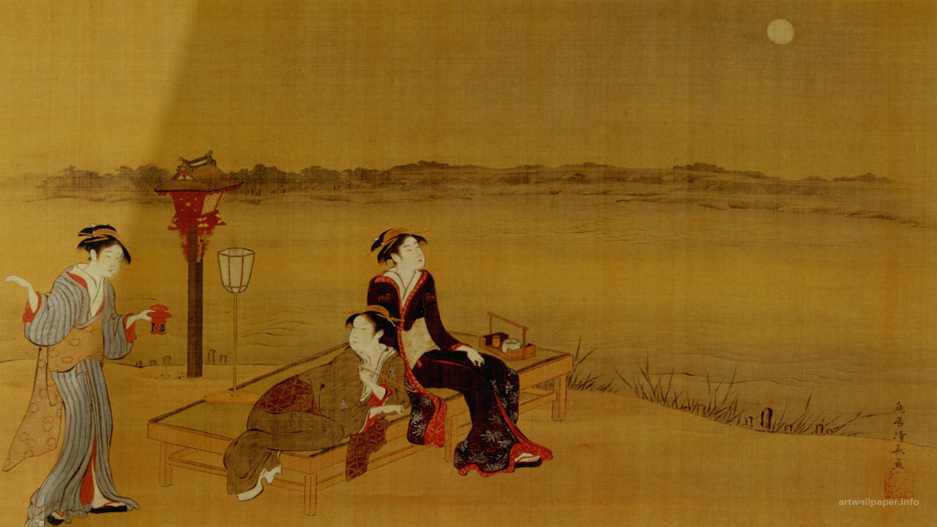 Japanese Art Wallpapers Prints Traditional painting of Japan 1920x1080