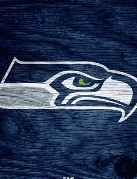 Seattle Seahawks Blue Weathered Wood Wallpaper for Nokia Lumia 520 450x590