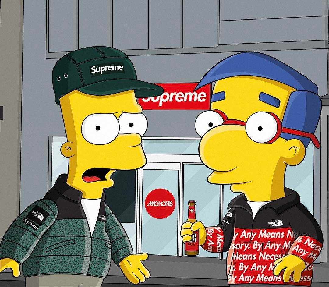 Supreme Simpson Cartoon Wallpapers   Top Supreme Simpson 1080x942