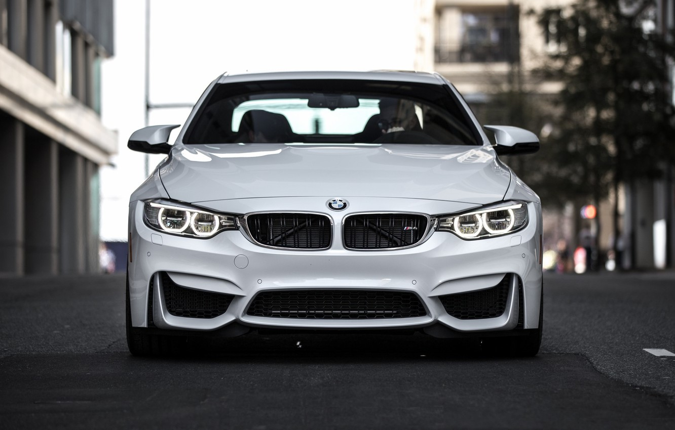 Wallpaper BMW turbo white Coupe power front face germany 1332x850