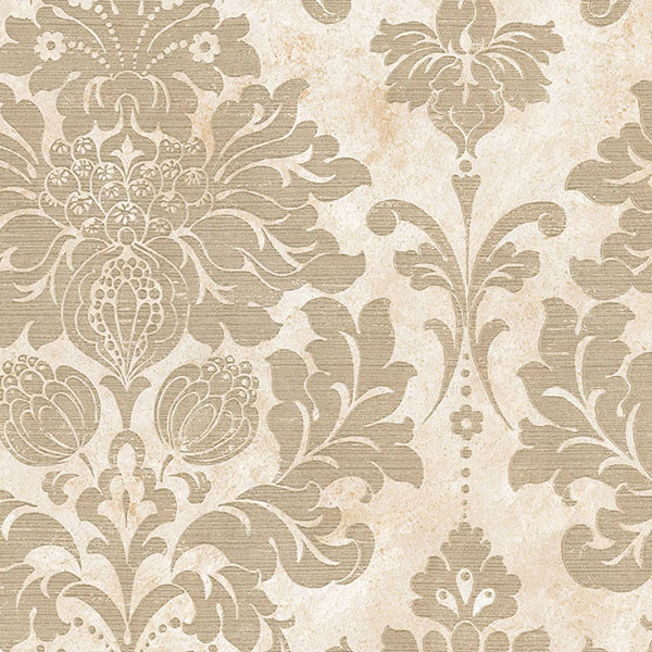 Large Damask in Gold and Beige   MD29414   Traditional   Wallpaper 600x600