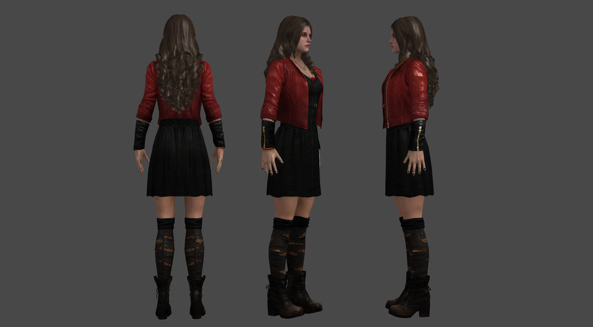 Scarlet Witch   Elizabeth Olsen custom 3D model by The JoeBlack on 1203x663