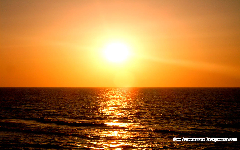 Beautiful Sunset from Beach 1440x900