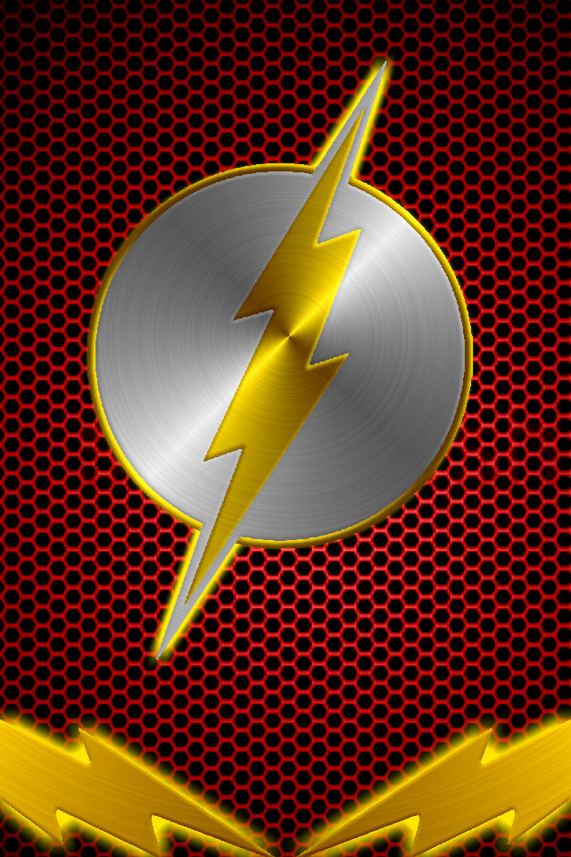 Kid Flash Logo Wallpaper Cyborg flash background by 640x960