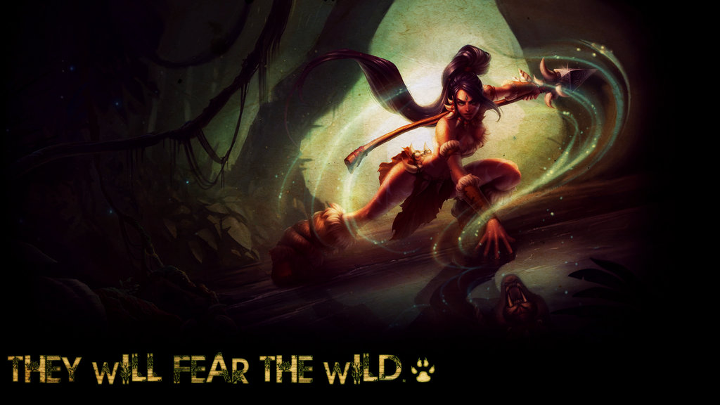 league of legends  nidalee wallpaper by psychovivi d6kvbivjpg 1024x576