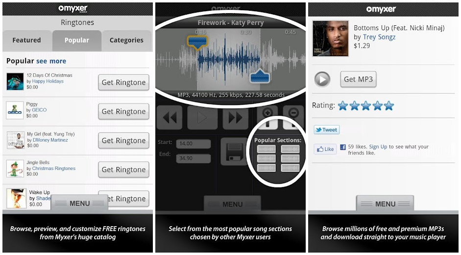 Myxer Review Free Music Apps Ringtones and more