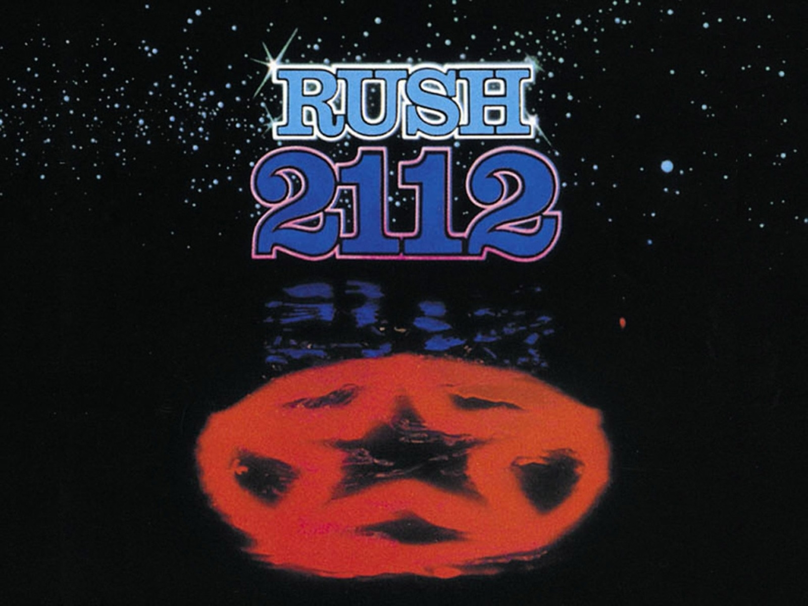 outer space music red stars symbol rush classic music bands 2112 album 1600x1200