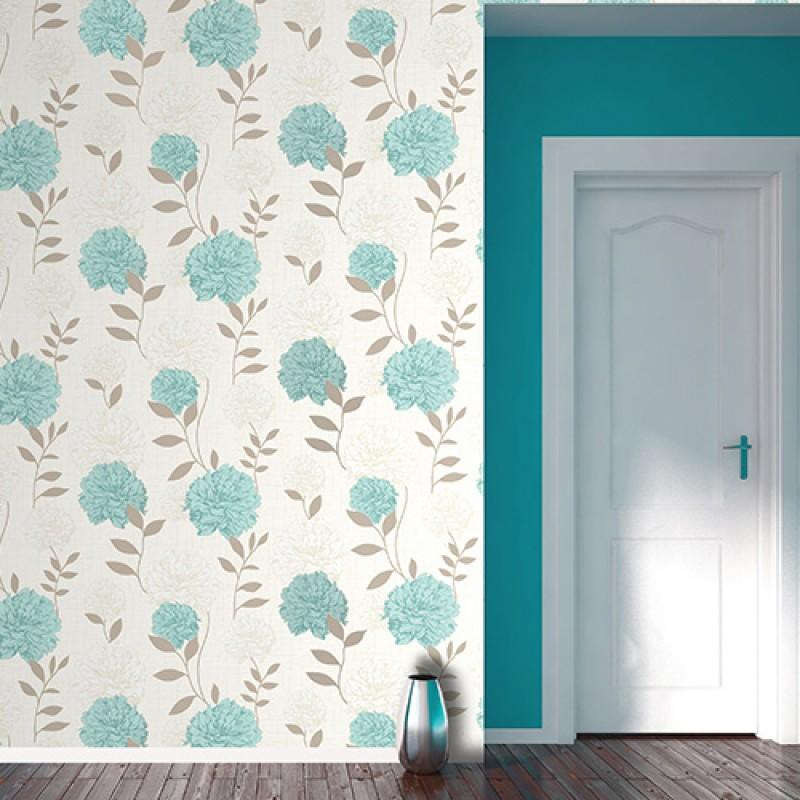 Home Maytime Teal Textured Wallpaper by Crown Wallcoverings M0848 800x800