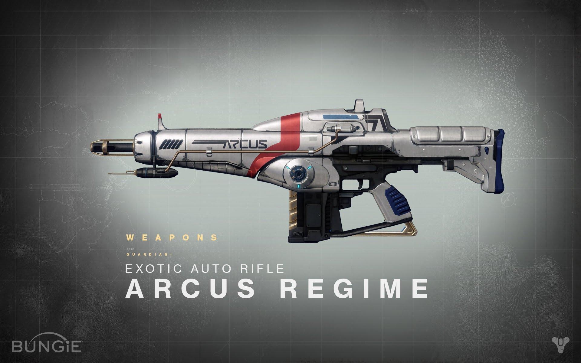 Destiny News   Exotic Weapons List Arcus Regime Exotic Auto Rifle 1920x1200