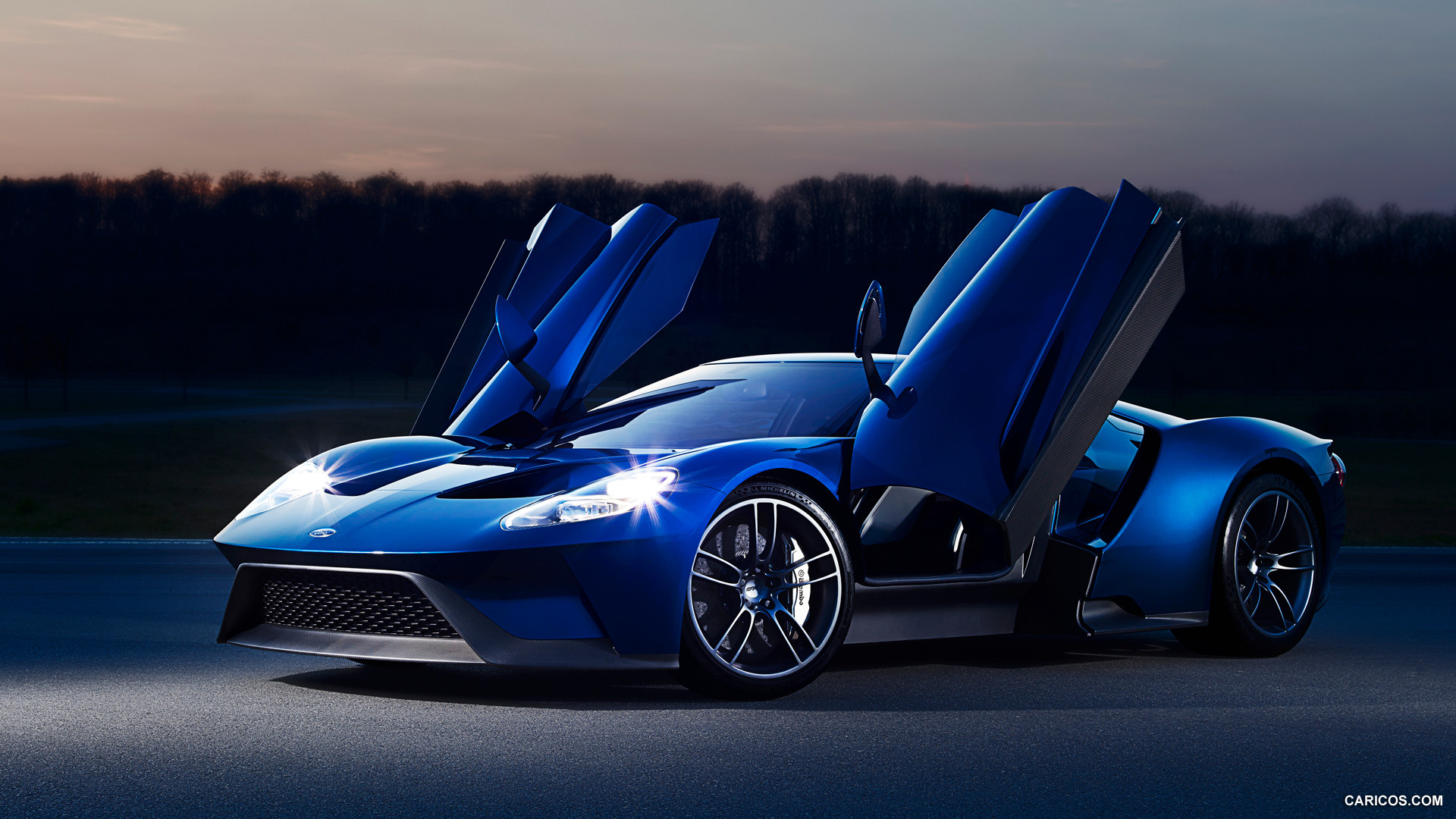 Ford Gt  Ford Gt Doors Up Front Wallpaper X