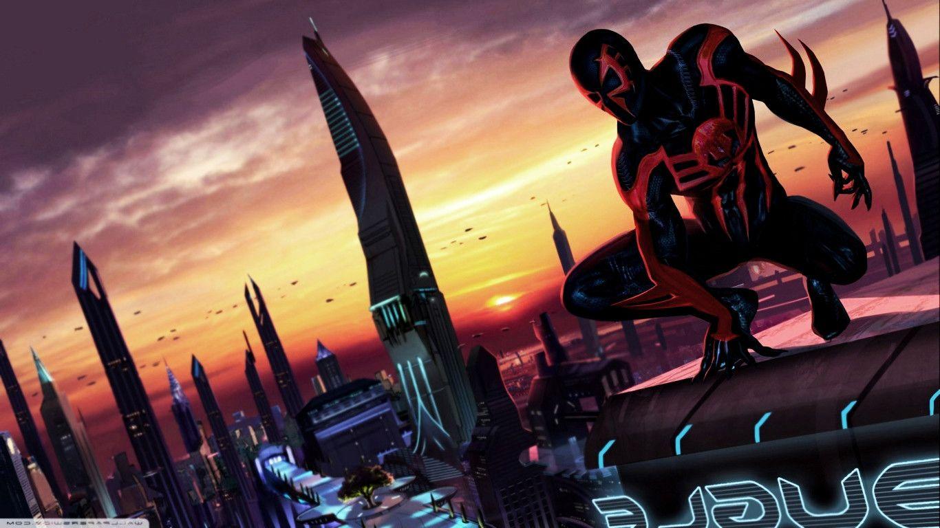 Spider Man 2099 Wallpaper On Wallpaperget Com: Spider Man 2099 HD Wallpaper