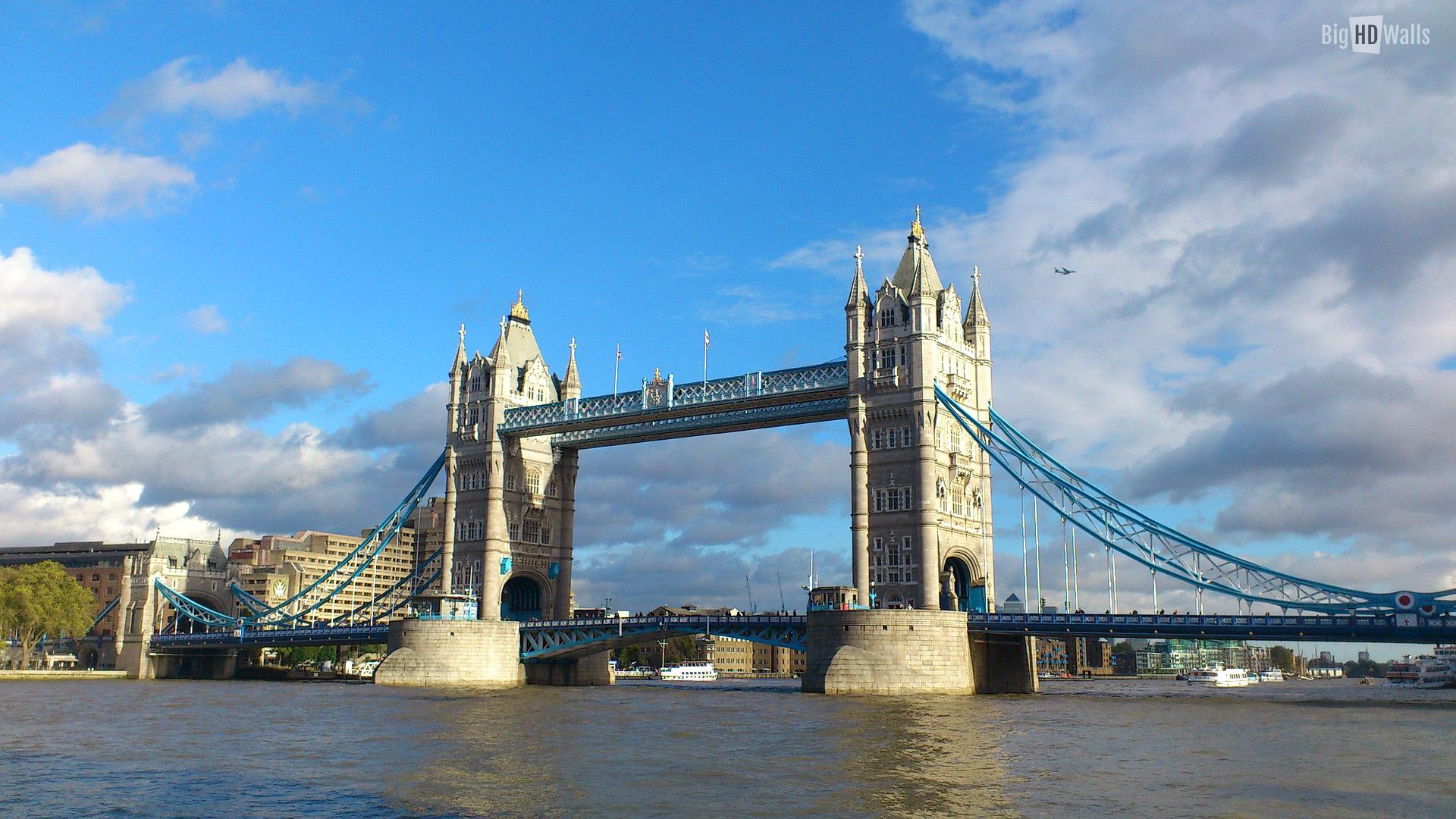 Tower Bridge London HD Wallpaper BigHDWalls 1920x1080