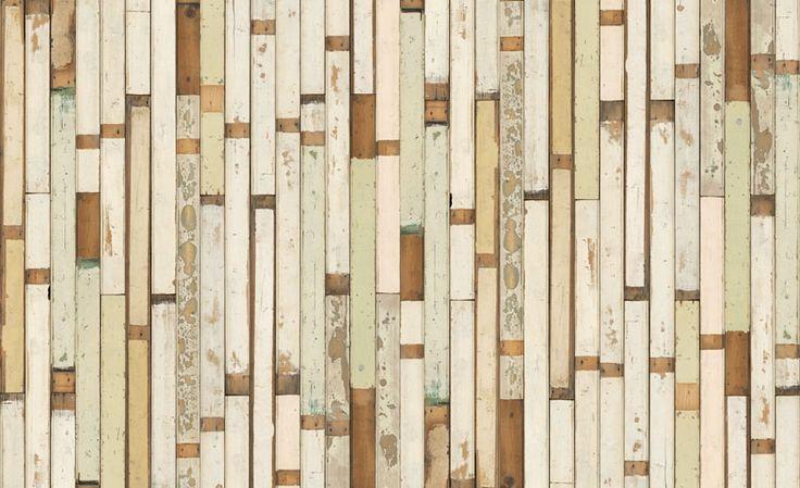 Faux reclaimed wood wallpaper Wallpaper Pinterest Wood 736x449