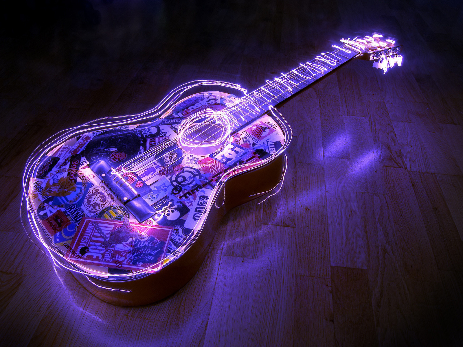 Cool Acoustic Guitar   Cool Desktop Background 1600x1200