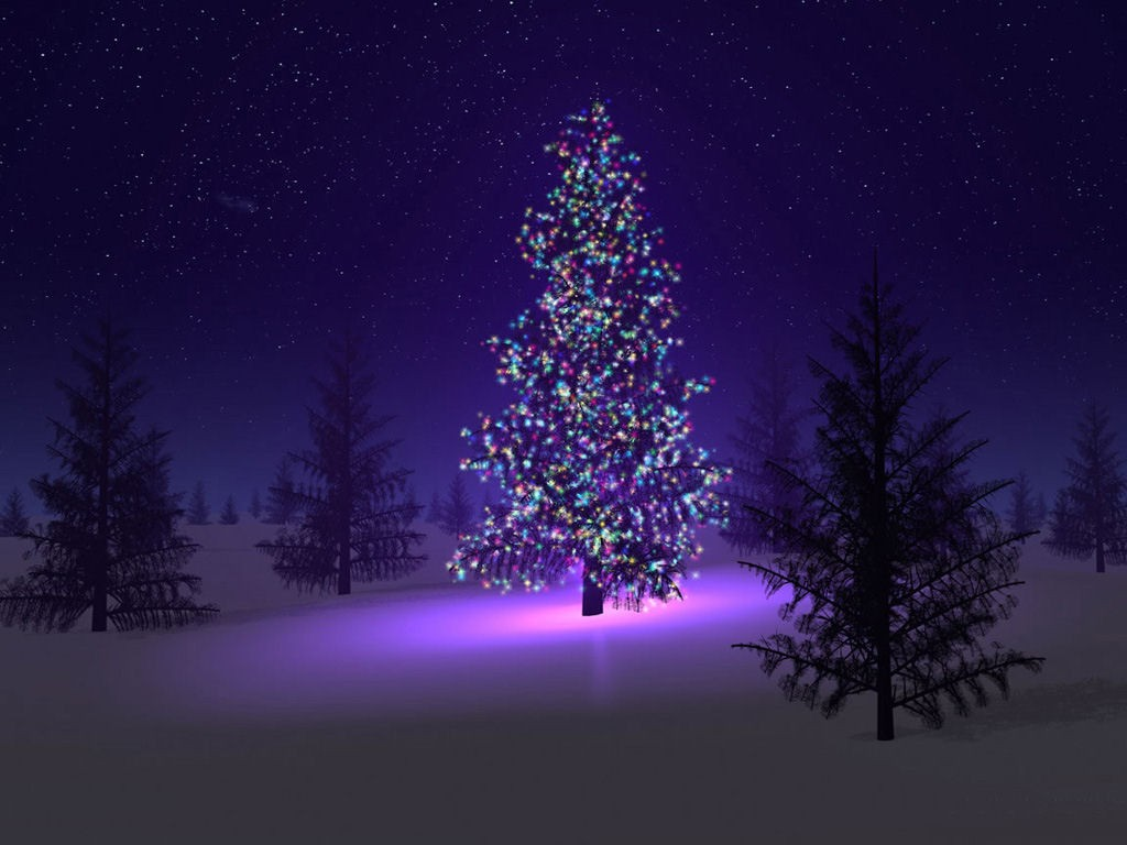 Christmas Tree Desktop Wallpapers Christmas Tree Images 1024x768