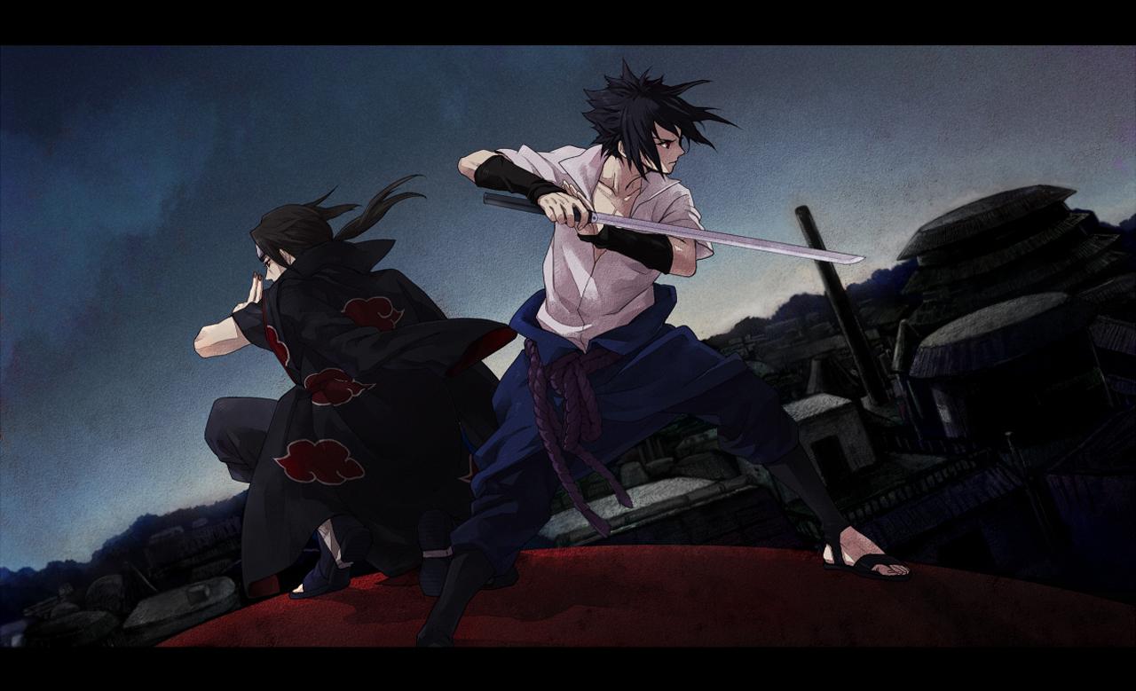 Uchiha Sasuke Itachi Akatsuki Sword Anime HD Wallpaper Desktop 1280x779