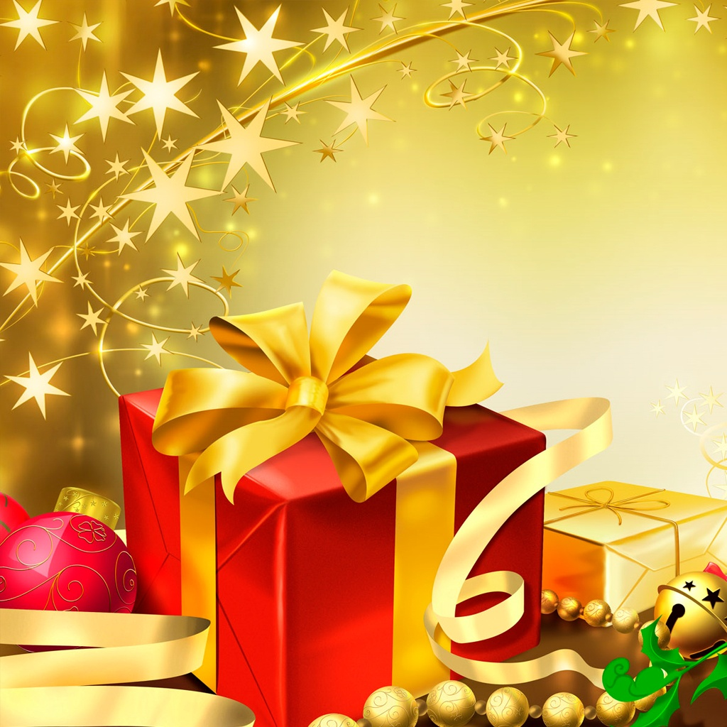 Christmas Presents iPad Wallpaper   Download iPad 1024x1024