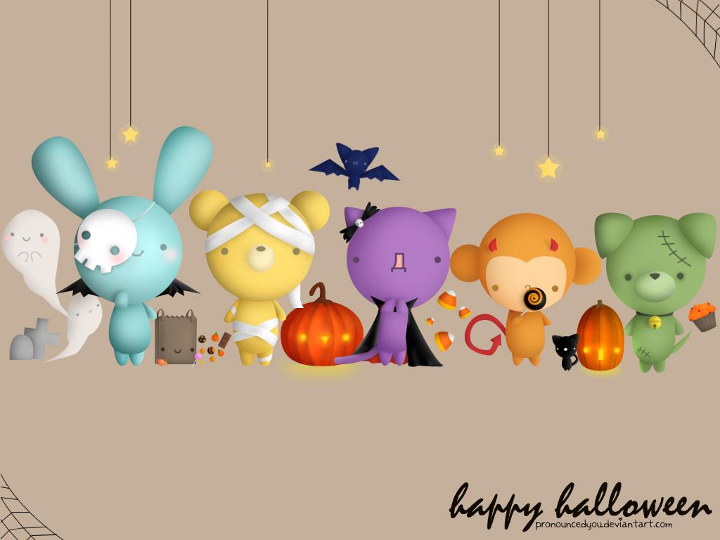 Dulces Momentos Fondos para Escritorio Halloween 1024x768