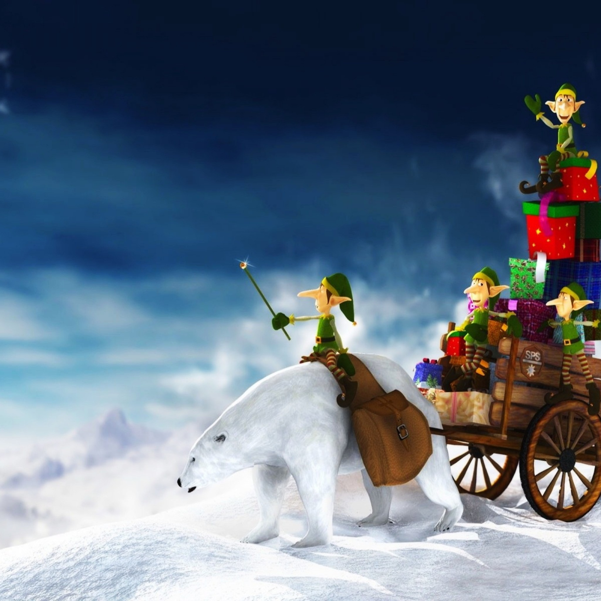 Beautiful christmas hd wallpapers gives unlimited 2048x2048