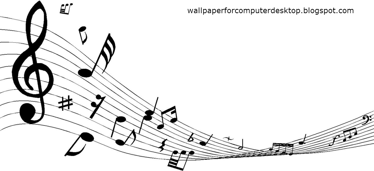 Free Decorative Music Notes Wallpaper