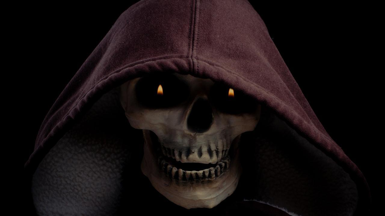 Evil skull wallpaper wallpapersafari - Scary skull backgrounds ...