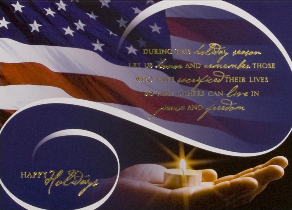 Candle in Hand Patriotic Card   Patriotic from CardsDirect 1000x720