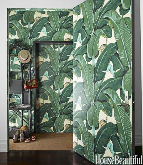 Rosa Beltran Design MARTINIQUE BANANA LEAF WALLPAPER 500x578