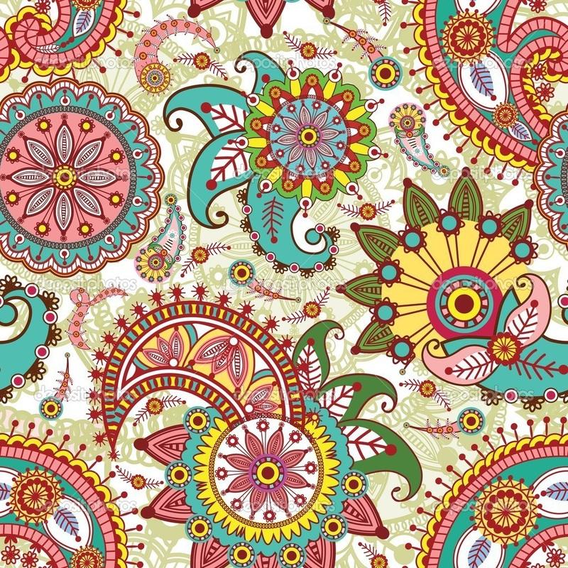Colorful Paisley Wallpaper - WallpaperSafari