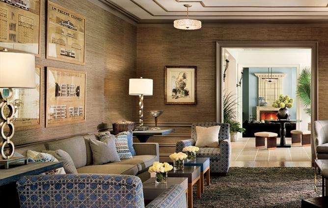 walls decorating living room decor grasscloth wallpaper elegant home 668x424