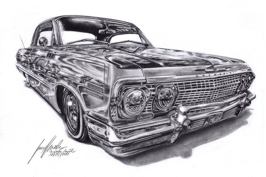 chevrolet impala lowrider by lowrider girl d4a7h3ajpg. ← Lowrider Arte Wallpaper