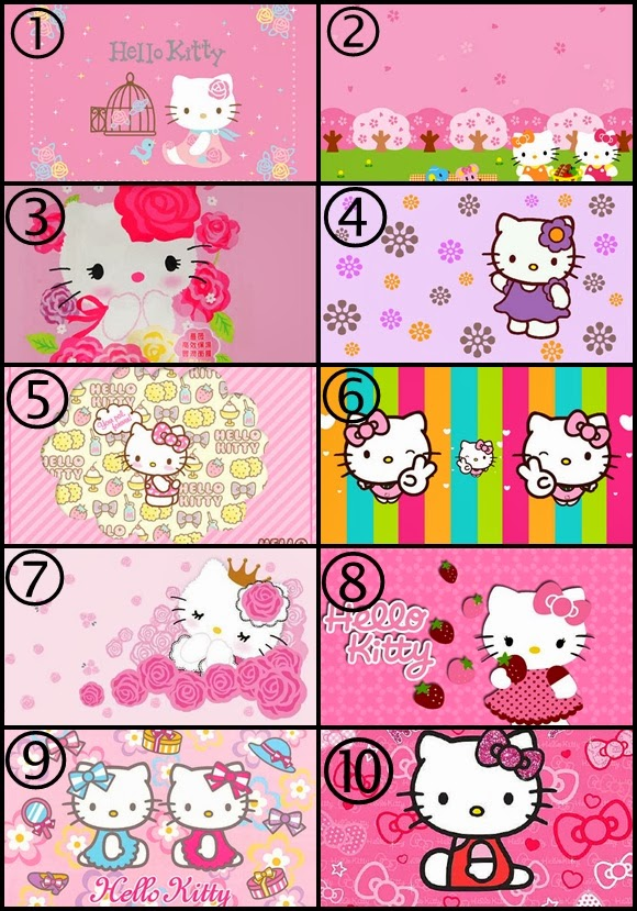 Wallpaper Border Hello Kitty 580x829