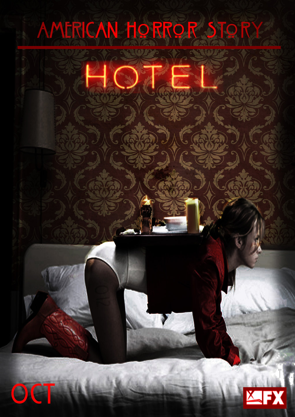 American Horror Story Hotel No4 Room Service by morrallshortie on 1024x1448