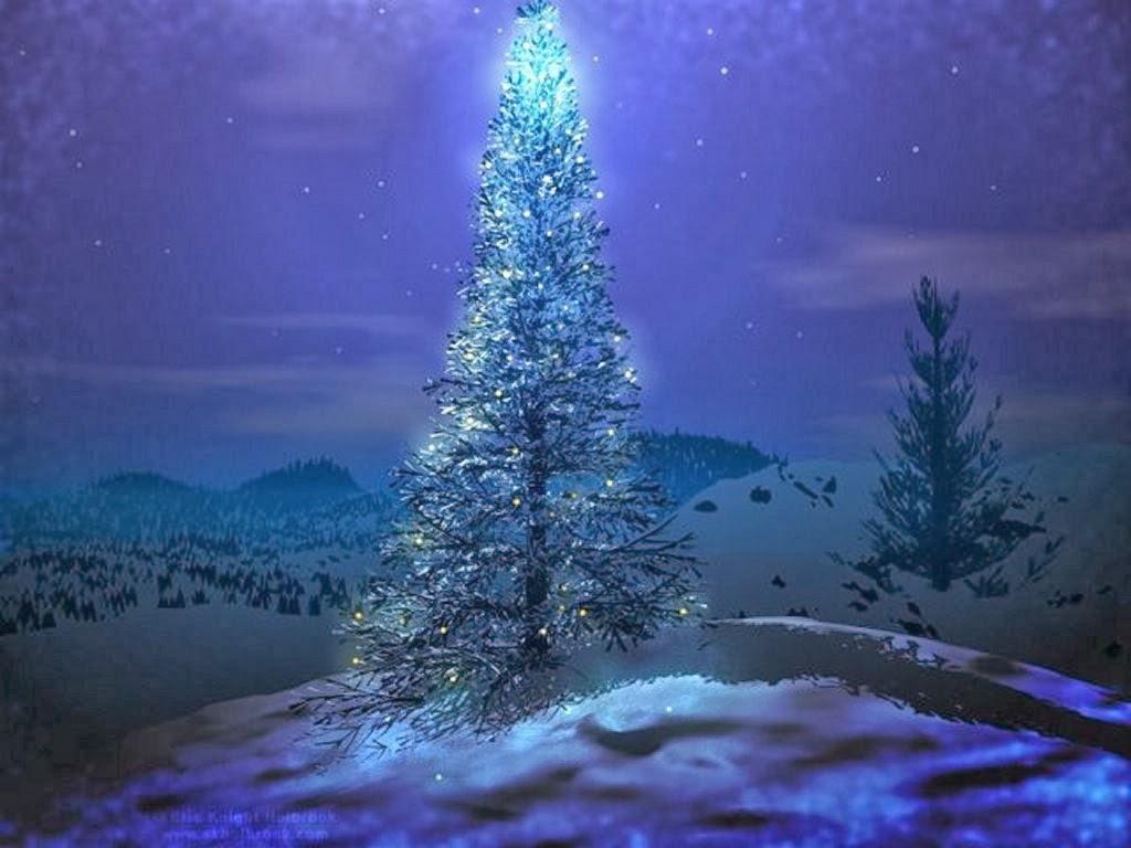 christmas trees wallpaper - wallpapersafari