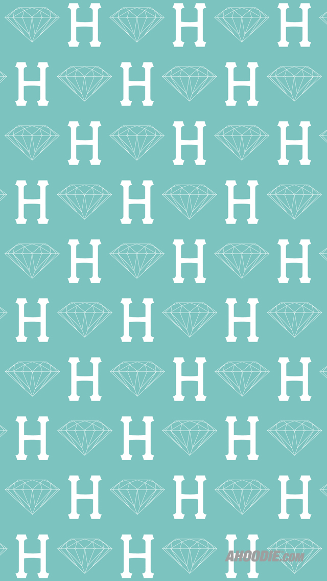 Diamond Supply Co Wallpaper Hd Blue Huf x diamond supply co 640x1136