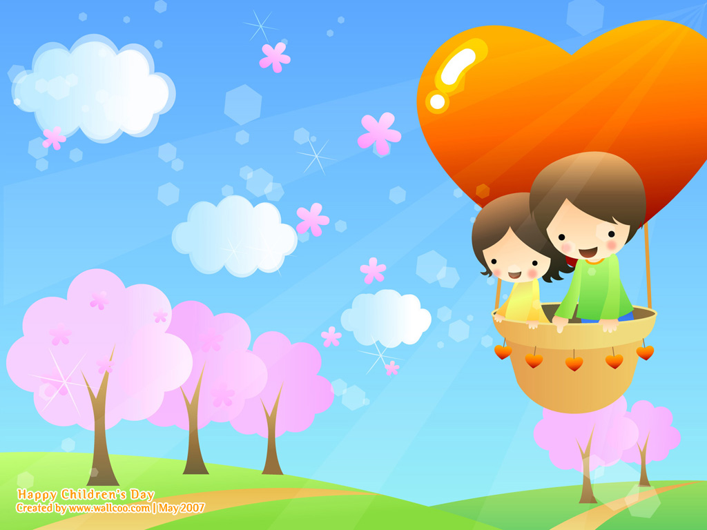 PicturesPool Childrens Day Wallpaper Greetings KidsFunDrawing 1024x768