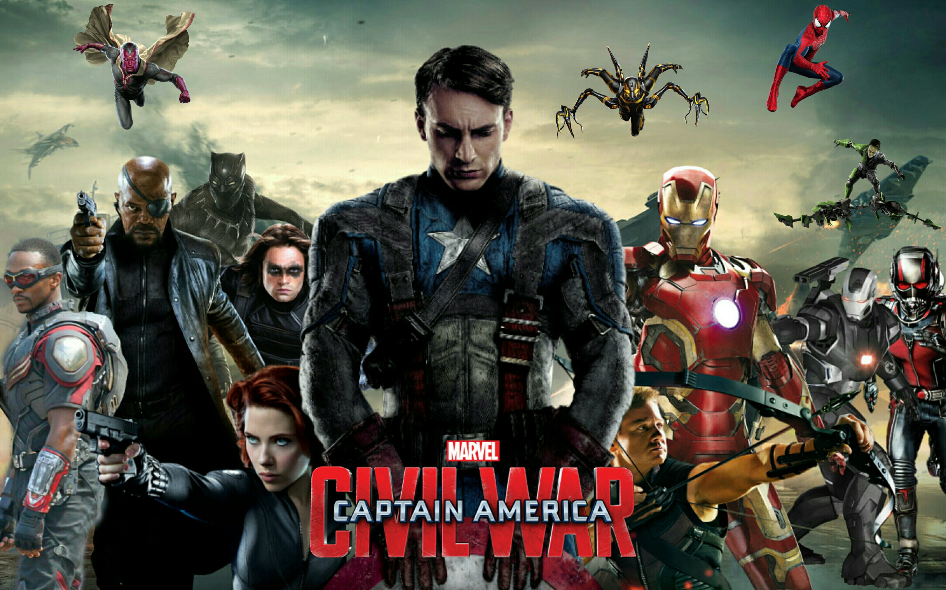 Captain America Civil War Wallpaper Movie Poster by MrVideo VidMan 3242x2022