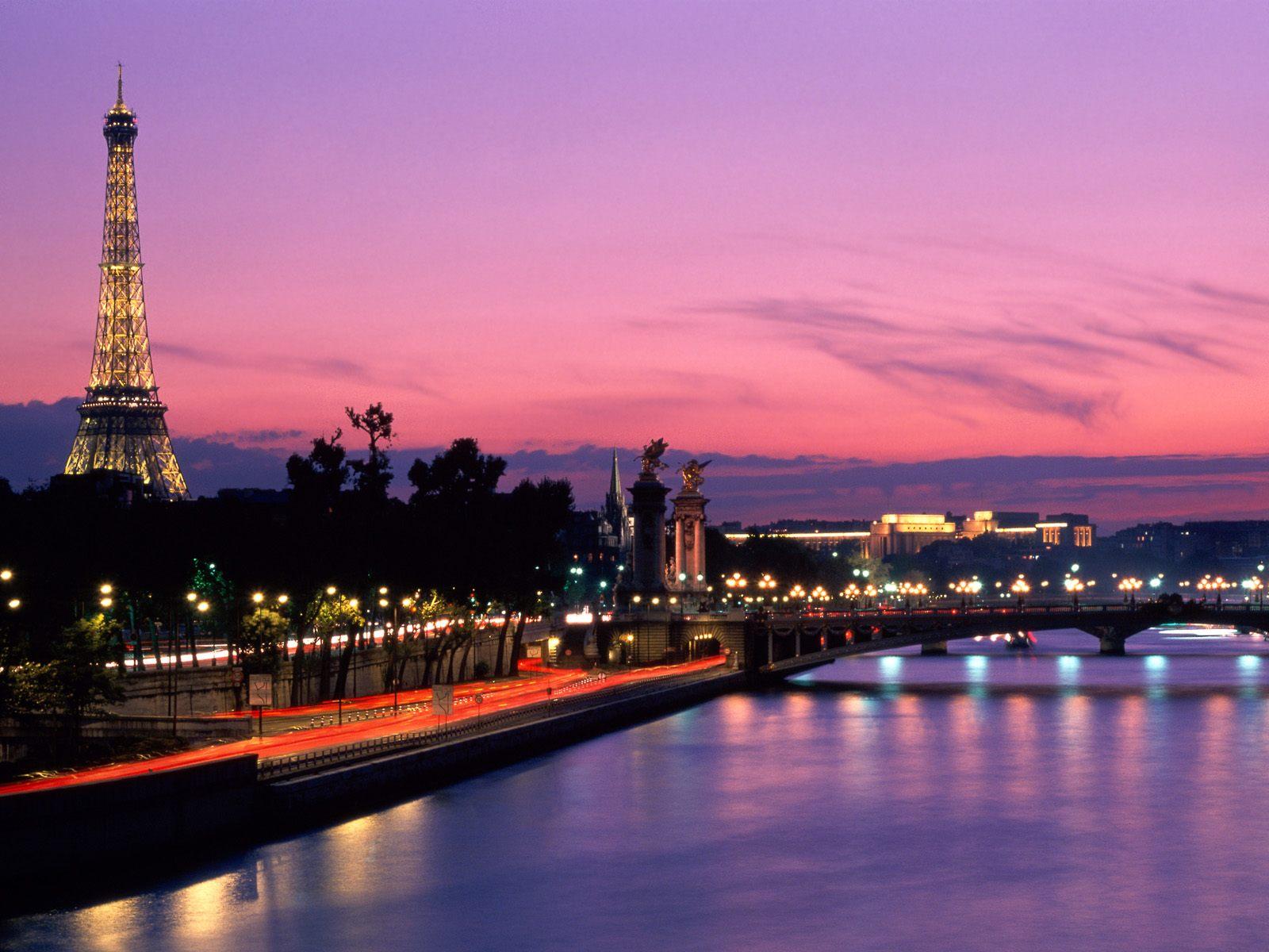 Париж сумерки ночь город вечер  № 2227423 загрузить