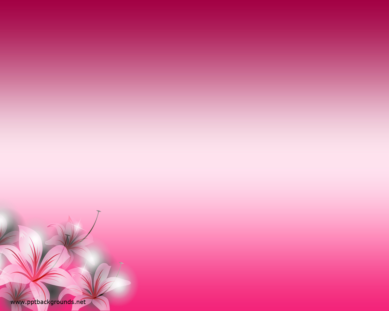 Free Pink Flowers Backgrounds For Point Flower Ppt Templates