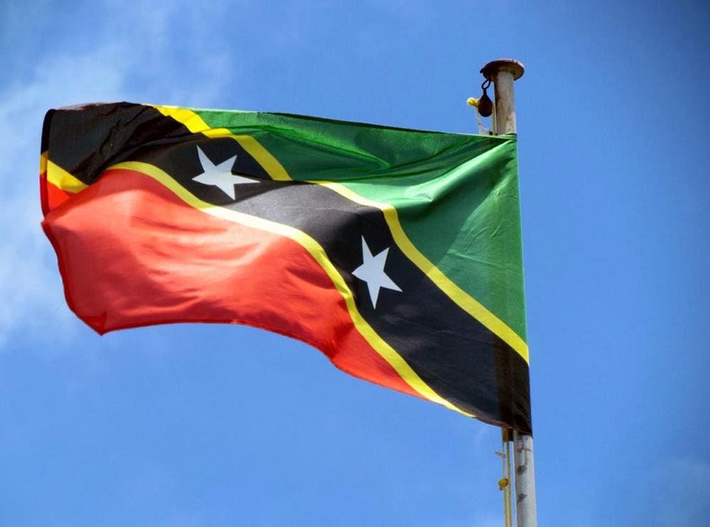 GRAAFIXBLOGSPOTCOM Flag of Saint Kitts and Nevis 1000x742