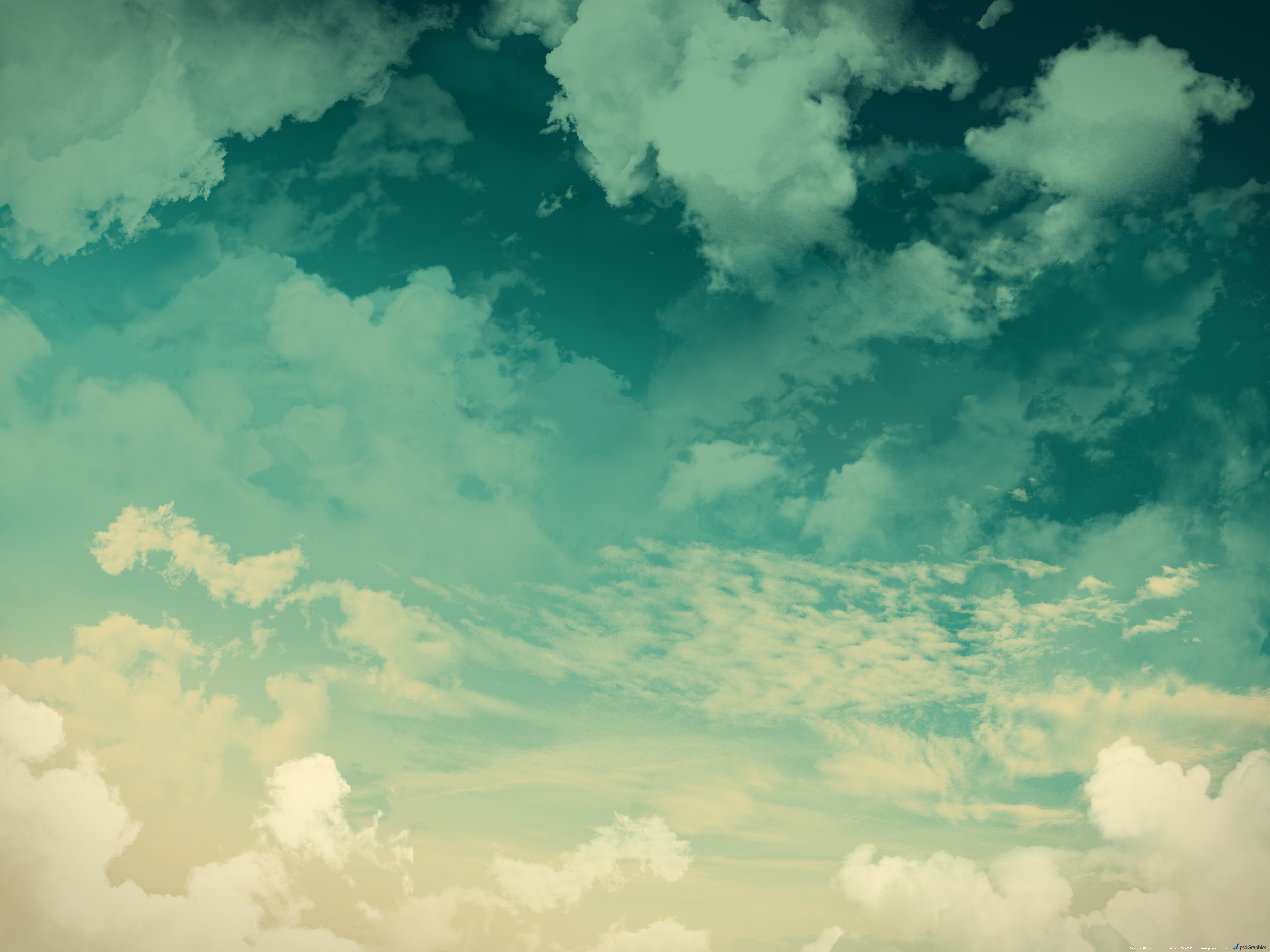 Grunge sky background green clouds PSDGraphics 5000x3750
