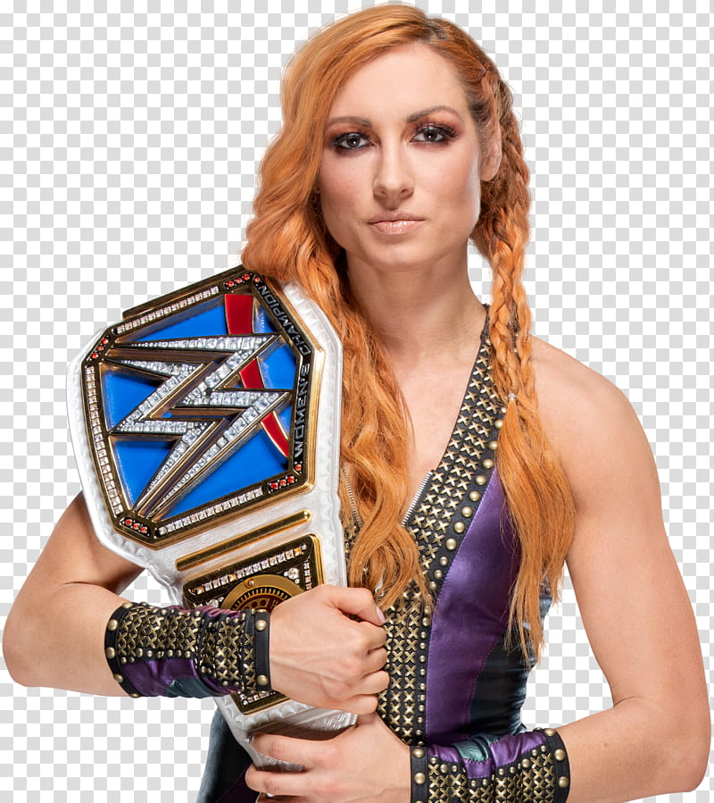 Becky Lynch SmackDown Women Champion HD transparent background PNG 800x899