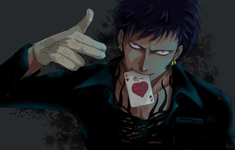 Wallpaper look heart map earrings art Anime guy ACE Anime 1332x850