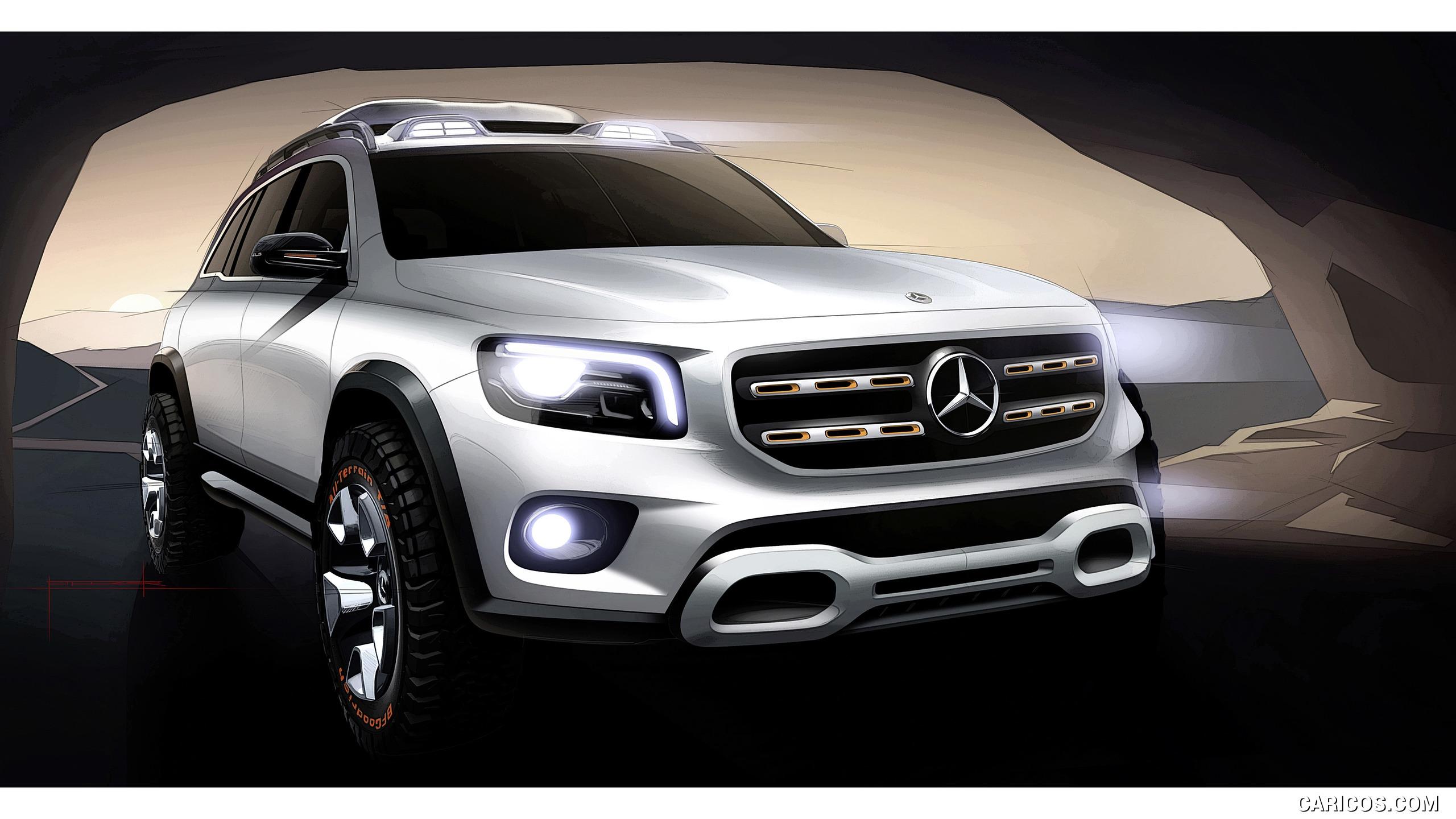 2019 Mercedes Benz GLB Concept   Design Sketch HD Wallpaper 18 2560x1440