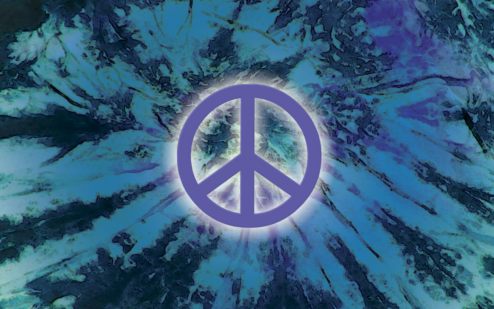 And Blue Peace Sign Background Blue And Green Diagonal 1680x1050