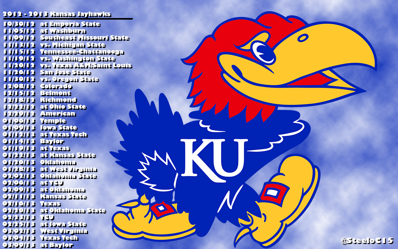 picture relating to Ku Basketball Schedule Printable identified as Down load 2012 2012 Kansas Basketball Routine Desktop