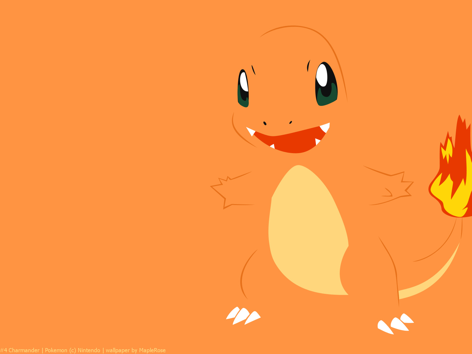Charmander A flame burns on the tip of its tail from birth It is 1600x1200