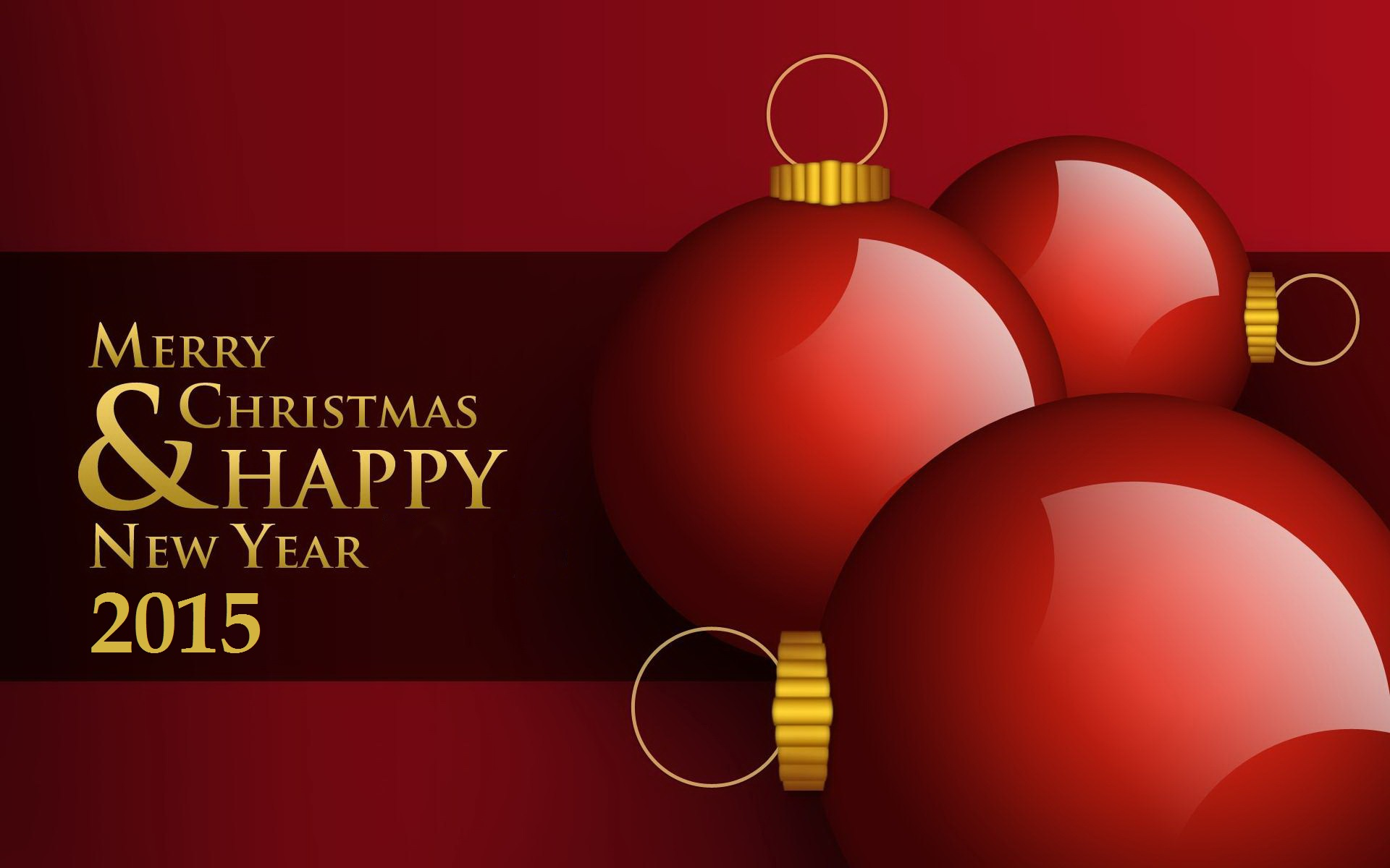 Merry Christmas and Happy New Year 2015 Wallpapers 1920x1200