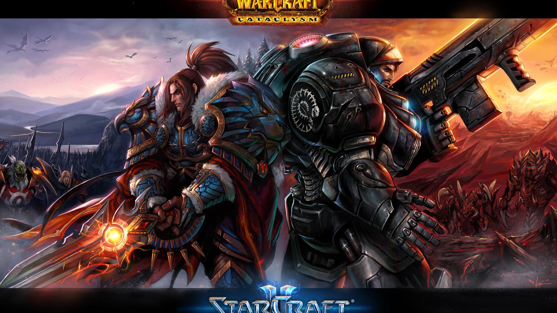 Warrior couple world of warcraft wallpaper Wallpaper Wide HD 1920x1080