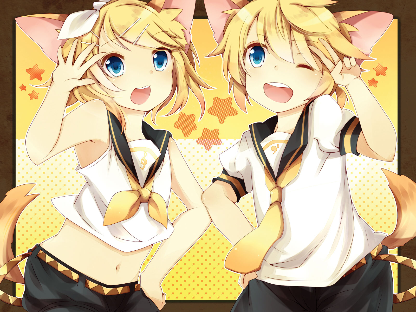 Vocaloid Wallpaper Rin Kagamine Len Wallpaper...